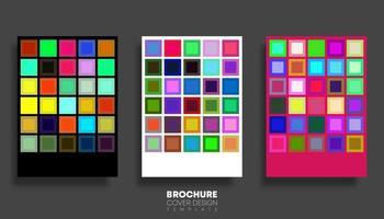 ensemble d'arrière-plans avec des carrés multicolores vecteur