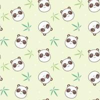motif de visage de panda