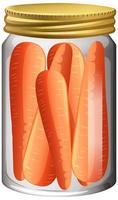 carotte dans le bocal en verre