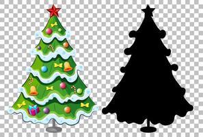 ensemble d'arbre de Noël sur fond transparent