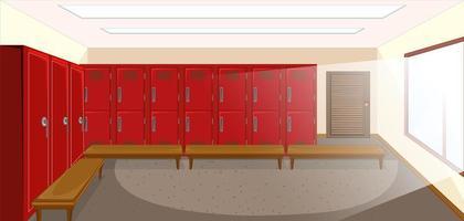 vestiaire de sport avec fond de casier