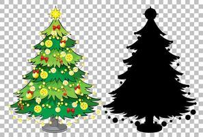 ensemble d'arbre de Noël sur fond transparent vecteur
