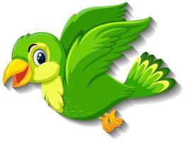 personnage de dessin animé mignon oiseau vert