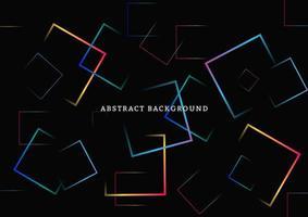 abstrait avec des carrés de néon