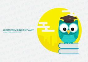 Owl Mascot For Science Lab vecteur