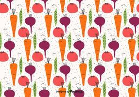 Doodle légumes Motif vecteur
