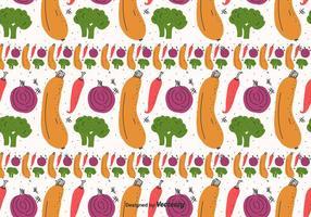 Légumes plats Motif Vector
