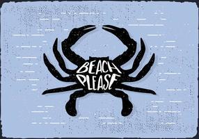 Free Hand Crab Dessiné Contexte vecteur