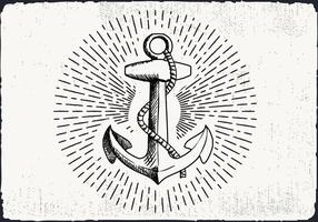 Free Hand Drawn Background Anchor vecteur