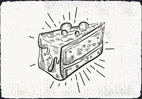 Free Hand Drawn gâteau fond vecteur