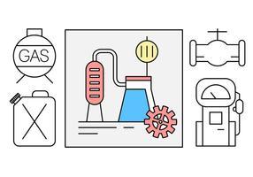 Industrie du pétrole gratuit icônes vectorielles vecteur