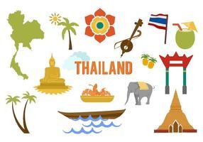 Vecteur libre Thaïlande Éléments
