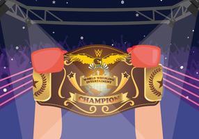 Boxer Vainqueur Championnat World Holding Belt Vector