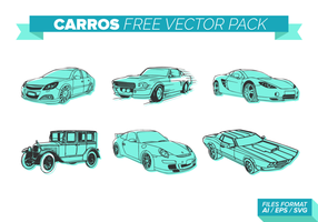 Teal Carros gratuit Pack Vector