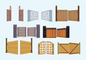 Open Gate Vector Collection