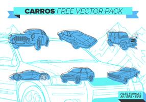 Bleu Carros gratuit Pack Vector
