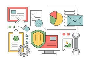 Gratuit Sécurité en ligne Icons Set vecteur