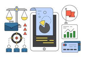Business Management icônes vectorielles vecteur
