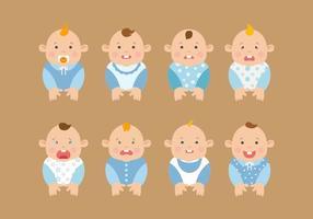 Vecteurs de bébé à la libre expression