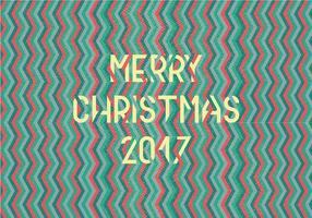 Merry Christmas Chevron Vector