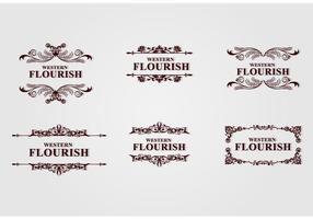 Brown Western Flourish vecteur