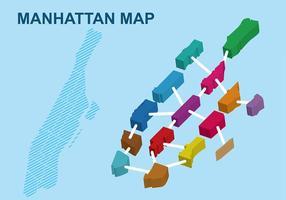 Blocky Manhattan Plan vecteur