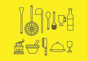 Icônes de cuisine vecteur