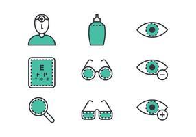 Eye Icône linéaire Doctor vecteur