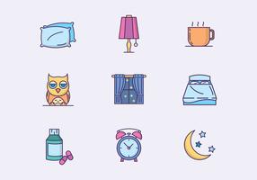 Icônes de couchage gratuites vecteur