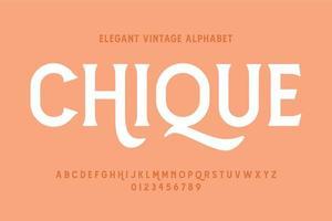 alphabet d'affichage vintage élégant vecteur