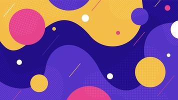 fond abstrait de formes dynamiques colorées plates vecteur