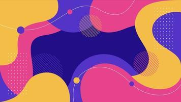 fond abstrait de formes fluides dynamiques plates colorées vecteur