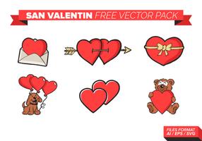 San Valentin gratuit Pack Vector