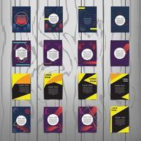 collection de modèles de couverture de brochure avec des dessins abstraits
