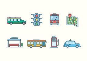 Icônes Transport gratuit vecteur