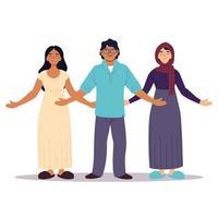 groupe de personnes ensemble, diversité ou multiculturelle vecteur
