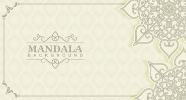 concept de fond de mandala blanc vecteur