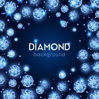 fond de diamant réaliste vecteur