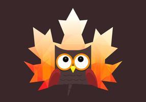 Owl Et Nature Avec Double Style Exposition vecteur