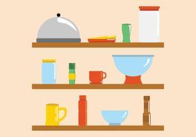 Moderne et lumineux de cuisine Ware vecteurs vecteur