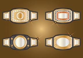 Champion Ceinture Set vecteur