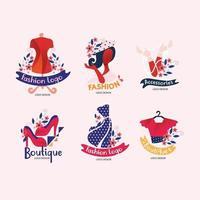 logo de design de mode avec une forme et une couleur uniques vecteur