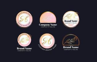 conceptions de logo beauté et mode vecteur