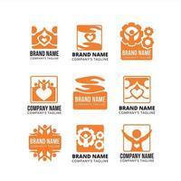 collection de modèles de logo de travail d'équipe vecteur