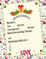 chère liste de souhaits de lettre de père Noël pour les enfants