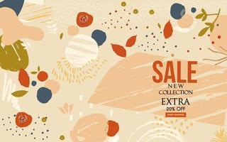 bannière de site Web de vente de conception abstraite moderne