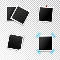 ensemble de cadre photo vecteur