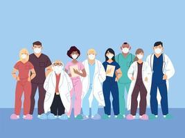 travailleurs de la santé, médecins et infirmières