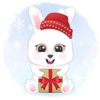 lapin avec coffret cadeau