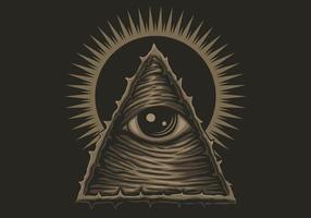 conception de style illuminati à un œil vecteur